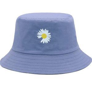 New Women's Flower Embroidery Travel Bucket Hat